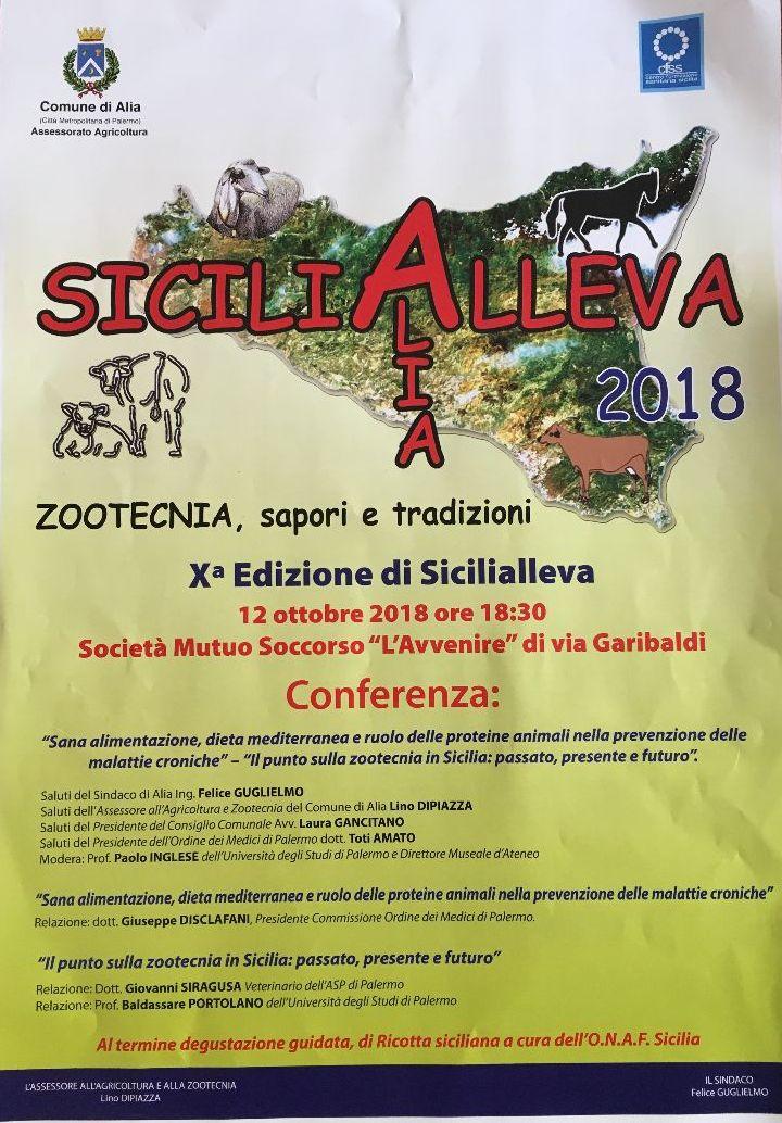 SICILIALLEVA 12-13-14 OTTOBRE 2018 PROGRAMMA