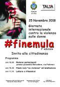 25 NOVEMBRE GIORNATA INTERNAZIONALE CONTRO LA VIOLENZA SULLE DONNE. #FINEMULA 3°edizione