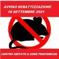 DERATTIZZAZIONE PER GIORNO 16 SETTEMBRE 2021...
