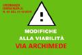 MODIFICHE VIABILITÀ VIA ARCHIMEDE E INSTALLAZIONE DIVIETI DI SOSTA.