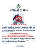 POTABILITA' ACQUA E INTERRUZIONE FORNITURA IDRICA VENERDI' 22 MAGGIO 2020.