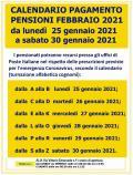 PAGAMENTO PENSIONI FEBBRAIO 2021, CALENDARIO.