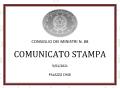 COMUNICATO STAMPA DEL CONSIGLIO DEI MINISTRI n. 88