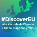 """""""DISCOVEREU"""" ALLA SCOPERTA DELL'EUROPA I 18ENNI VIAGGIANO GRATIS."""