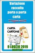 RACCOLTA PORTA A PORTA CARTA