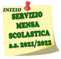INIZIO MENSA SCOLASTICA 2021 - 2022...